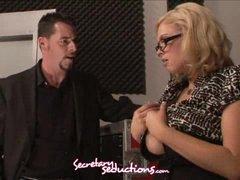 Katie Kox and Jack Vegas lustful office stuffing
