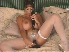 Exposed fake titties sweetheart electro play and dildo sex