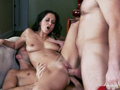 Ava Addams acquires her face plastered with warm cum