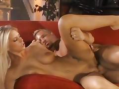 Brooke Biggs bounces around on a plump meatpole