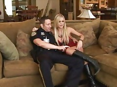 Naughty gal Mckenzie Miles is picked up and cop screwed