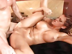 Babe Eve Lawrence enjoys a rough cum-hole pounding