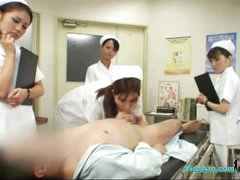 4 Nurses Giving Tugjob And Irrumation job For Patient Cum To Throat In The Surgery