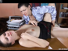 Youthful secretary knows some tricks seducing a mother i'd like to fuck into lesbian office sex