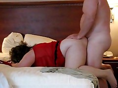 A fatty duett acquires their large bodies to come together with the hooking of his cock inside her pussy. She's bent over and ready to handle the thrusts. Their chubby jiggles all the way to a pair of nice orgasms.