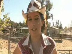 `Yee Haw! Aza Haze works on a farm with horses all day but when that playgirl acquires a grab of O.G.'s huge horse pecker, that playgirl straight out goes buck wild! This slutty little cowgirl can't await to receive on her knees and take that dark 14` cock! The way this juicy love tunnel slut sucks on O.G.'s ramrod, u receive the hint that babe's been around a huge 10-Pounder in advance of on the farm. When that playgirl bonks, that playgirl let's go and rides like a champ! Expect 'til this playgirl acquires a face full of hot creamy O.G. brand load!!`