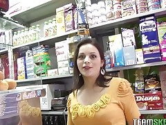 Grocery's are an important activity but fucking is a lot greater quantity important. During the time that I was in a store I found this beautiful dark brown milf with sexy pink lips and legs that made me wondering how admirable they will look spread. In a short time I fascinating talked her and here you have it, naked, excited and ready to masturbate for us