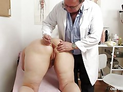 Yvonne is at gynecologist completely in nature's garb and waits for the doctor to examine her body. She's a bit plump but that means there's a lot greater quantity to love as the doctor carefully and gently inserts a medical tool in her sexy hairless black hole and then this chab gapes her hairless muff looking inside her pink pussy, that bawdy cleft is ideal for a hard cock and maybe the doc will give her some fucking therapy.