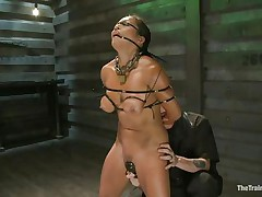 This babe is in for some truly grueling training regime as this chab takes complete control of her body and makes her body go through different hardships to make sure this babe obeys abjectly without asking any questions or raising objection. This chab tied her and covered her face with cloth to tell her who is the boss.