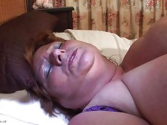 Brigit is one of these huge granny honeys that could swallow a sextoy like a candy bar. This babe is masturbating and inserts that sex toy in her pussy all the way in making sure that babe has it inside. Her fat cunt receives it with no problems and now that babe can have a fun herself. This babe is huge but her sex drive is even larger then her.