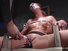 This is art, and as u can watch in the 1st scene we have a brown haired doxy bound on a char and punished with electric shocks on her pussy. Then we get to watch the same bitch and one more one bound in position 69 on the bed. If it excites u then why not watch it, it surely merits your time and attention!