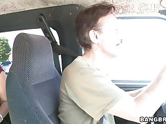 Adriana, a hot redhead, is getting in the Bang Bus. What will await for her in the backseat? Will that fascinating round ass acquire some spanking? Is that babe going to have sex with only one guy, or will there be more?
