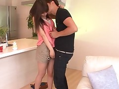 Lusty man bangs Oriental hottie roughly doggystyle