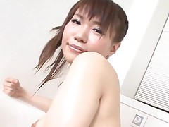 Pal licks, fingers and fucks hirsute twat of girlie from Asia