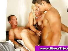 Bisex threesome sex