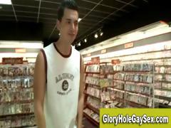 Homo str8 gloryhole oral job