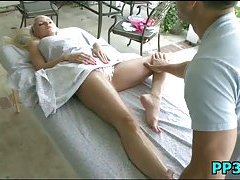 Slutty honey massaged & pounded