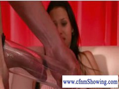 Cfnm beauties pumping and blowing jock