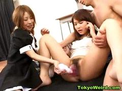 Classroom oriental schoolgirl masturbation