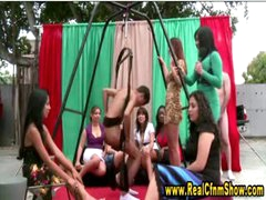 Horny cfnm babes see