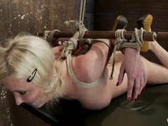 Sassy Cherry Torn gets herself fastened up in knots