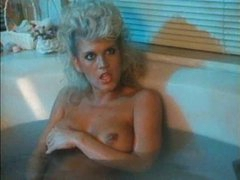 Retro bathing cutie joins him in bed for sex